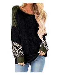 cheap -Women's Casual Sweatshirt - Geometric Black S