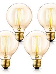 cheap -4pcs 40 W E26 / E27 G80 Warm Yellow 2200 k Incandescent Vintage Edison Light Bulb 220-240 V