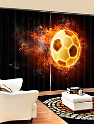 cheap -Flying Flame Football Digital Printing 3D Curtain Shading Curtain High Precision Black Silk Fabric High Quality Curtain