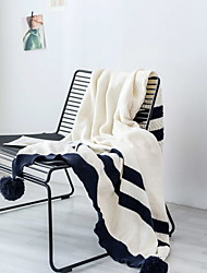 cheap -Bed Blankets, Striped Acrylic Fibers Comfy Blankets