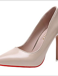cheap -Women's Heels Stiletto Heel Pointed Toe Rubber / PU Spring &  Fall Black / Almond / Dusty Rose