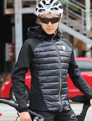cheap -Mountainpeak Men's Cycling Jersey Cycling Jacket Winter Fleece Polyester Spandex Bike Winter Fleece Jacket Top Breathable Warm Quick Dry Sports Black Mountain Bike MTB Clothing Apparel Bike Wear