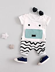 cheap -Baby Boys' Basic Print Short Sleeve Regular Regular Clothing Set White