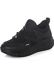 cheap -Women's Athletic Shoes Flat Heel Round Toe Elastic Fabric Sporty / Casual Running Shoes / Fitness & Cross Training Shoes Spring &  Fall Black / Gray