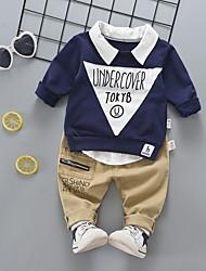cheap -Baby Boys' Basic Geometric Long Sleeve Regular Regular Clothing Set Orange