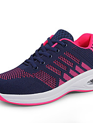 cheap -Women's Athletic Shoes Flat Heel Round Toe Tissage Volant Sporty / Casual Running Shoes / Fitness & Cross Training Shoes Spring & Summer / Fall & Winter Black / Black / Red / Purple