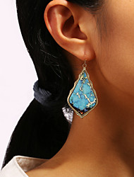 cheap -Women's Drop Earrings Tropical Drop Leather Earrings Jewelry Light Blue / White / Rainbow For Party Daily Holiday 1 Pair