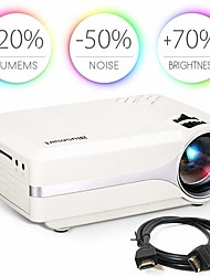 cheap -Blusmart Z495 Portable Projector 800x480P 1500 lm LED LCD Proyector Support 1080P HD Video Home Entertainment Cinema Video New HDMI USB Video Beamer