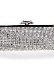 cheap -Women's Beading / Embroidery Alloy Evening Bag Solid Color Silver