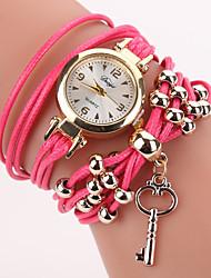 cheap -Women's Bracelet Watch Cubic Zirconia Casual Bohemian Pink Polyester PU Leather Quartz Blushing Pink Casual Watch Imitation Diamond 1 pc Analog One Year Battery Life