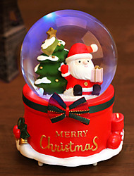 cheap -Snowing Santa Claus Crystal Ball with 8 Sound Christmas Music Box.