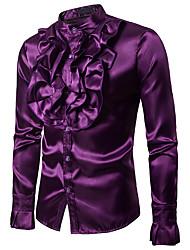 Недорогие -Викторианский стиль Блузы / сорочки Муж. Костюм Черный / Лиловый / Желтый Винтаж Косплей Для вечеринок Halloween Для клуба Длинный рукав / Рубашка