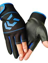 cheap -Fishing Gloves Fingerless Gloves General Fishing Windproof Breathable Warm Neoprene Autumn / Fall Winter Men's Women's