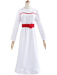 cheap -Annabelle Dress Women's Movie Cosplay Halloween White Dress Waist Accessory Waist Belt Halloween Masquerade April Fool's Day Cotton / Polyester Blend Polyster / Bell Sleeve