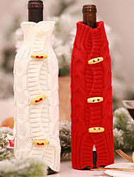 cheap -Christmas Wine Bottle Santa Claus Dinner Table Christmas Decorations For Home
