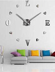 Недорогие -настенные часы, современный современный diy акриловый круглый крытый