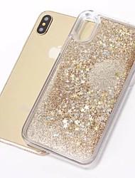 cheap -Case For Apple iPhone X / iPhone 8 Plus / iPhone 8 Flowing Liquid / Pattern / Glitter Shine Back Cover Cartoon / Glitter Shine TPU