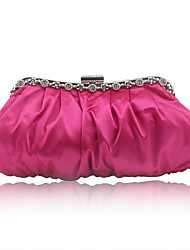 cheap -Women's Beading / Embroidery Silk Evening Bag Solid Color Wine / Fuchsia / Blue