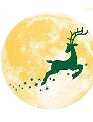 cheap -30CM Christmas Moon Wall Sticker Bedroom Kitchen Toilets Self-adhesive Removable Non-Slip Wallpaper For Home Decoration