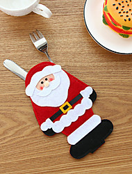 cheap -1Pc Christmas Stocking Bags Dining Table Knife Fork Holder Santa Claus Christmas Decoration Party Supplies