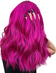 Недорогие -Синтетические кружевные передние парики Волнистый Средняя часть Лента спереди Парик Короткие Розовый / Фиолетовый Искусственные волосы 10-16 дюймовый Жен. Косплей Мягкость Регулируется Фиолетовый
