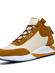 cheap -Men's Comfort Shoes PU Spring & Summer / Fall & Winter Casual Athletic Shoes Running Shoes / Walking Shoes Non-slipping Black / Brown / Black / White
