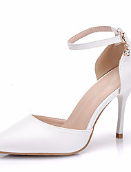 cheap -Women's Heels Stiletto Heel Pointed Toe PU Spring &  Fall / Spring & Summer White / Wedding / Party & Evening