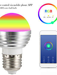 cheap -1pc 9 W LED Globe Bulbs LED Smart Bulbs 700 lm E14 GU10 GU5.3 12 LED Beads APP Control Smart Timing Multi-colors 85-265 V