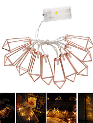 cheap -1pcs 10LED 1.65m Rose Gold Metal Diamond String Fairy Light Christmas Wedding Lamp New year Decoration Warm White string lights