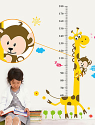 cheap -Cartoon monkey giraffe measuring height sticker home bedroom background decoration removable sticker AY831