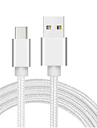 cheap -Type-C Cable 1.0m(3Ft) Braided / High Speed Nylon / ABS+PC USB Cable Adapter For Samsung / Huawei