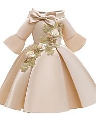 cheap -Kids Little Girls' Dress Floral Flower Party Pegeant Off Shoulder Bow Red Blushing Pink Beige Princess Lolita Dresses
