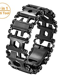 cheap -Man Outdoor Spliced Bracelet Leatherman Multi Tool Bracelet Stainless 29 In 1 Multi-function Tool Bracelet Survival Bracelet