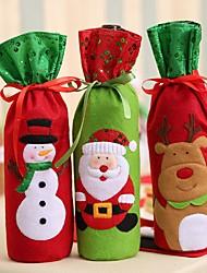 cheap -1Pc Christmas Decorations For Home Santa Claus Wine Bottle Cover Bag Santa Sack Decoration