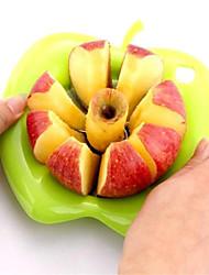 abordables -portable en forme de pomme en acier inoxydable coupe fruits dispositif pomme trancheuse coupe fruits diviseurs couteau cuisine cuisine main outils de cuisson