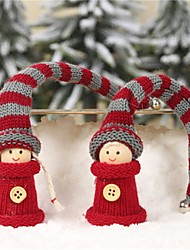 cheap -A Pair Of New Foreign Trade Explosion Models Christmas Decorations Long Hair Work Kids Pendant Small Doll Ornaments 2Pcs/Set