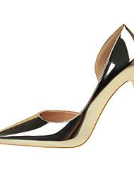 abordables -Femme Chaussures de mariage Talon Aiguille Bout pointu Satin / Polyuréthane Minimalisme Printemps été Noir / Brun claire / Dorée / Mariage / Soirée & Evénement