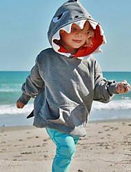 billige -Baby Gutt Aktiv Ensfarget Langermet Hettegenser og sweatshirt Rosa