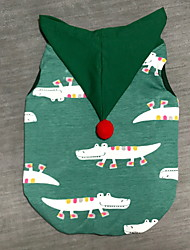 cheap -Dog Vest Winter Dog Clothes Green Costume Polyster Christmas Deer Cosplay Christmas S M L XL