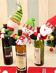 cheap -Wine Bottle Hold Covers Set Santa Claus Snowman Christmas Table Decoration Navidad Christmas Ornaments for Home