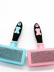 Недорогие -Собаки Коты Животные Чистка Продукт для удаления волос Шеддинг Инструменты Нержавеющая сталь Расчески Милые Животные Товары для ухода за животными Розовый Синий