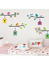 cheap -AY7226 cartoon bird bird nest children's room kindergarten background decoration removable sticker