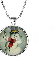 cheap -Women's Pendant Necklace Classic Christmas Tree Chrome Coin-Silver 45+5 cm Necklace Jewelry 1pc For Christmas Daily