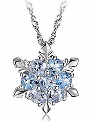 cheap -High Quality Shiny Pendants Necklaces For Women Jewelry Romantic Crystal Rhinestone 925 Charm Necklace