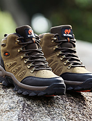 cheap -Men's Hiking Shoes Hiking Boots Anti-Slip Waterproof Breathable Wear Resistance High-Top Non-slip Steel Buckle Outsole Pattern Design Hunting Fishing Hiking Spring &  Fall Summer Army Green Grey