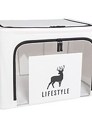 cheap -Storage Bins Boxes, Foldable Stackable Container Organizer Basket Set with Large Clear Window & Carry Handles, for Bedding, Linen, Clothes