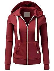 cheap -Women's Hoodie Solid Colored Basic Hoodies Sweatshirts  Wine Black Blushing Pink