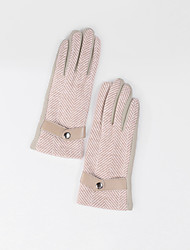 cheap -Cotton / Polyester Wrist Length Glove Artistic Style / Gloves With Button