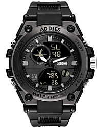 cheap -Men's Digital Watch Digital Sporty Black 30 m Water Resistant / Waterproof Calendar / date / day Day Date Analog - Digital Fashion - Black Black / White One Year Battery Life