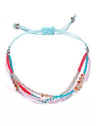 cheap -Women's Friendship Bracelet Braided Lucky Artistic Colorful Acrylic Bracelet Jewelry Black / Blue / Rainbow For Gift School Festival